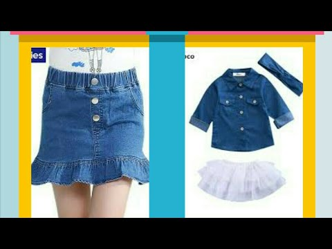 DIY /   Old jeans shirt convert baby awesome skirt top