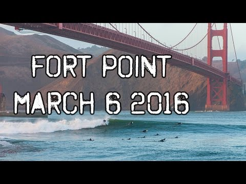 Surf at Fort Point, San Francisco (March 2016)