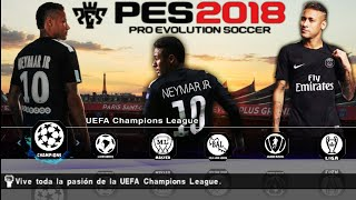 PES 2018 v3.1 Android 600 MB Offline Best Graphics New Textures