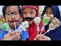vlog kegiatan hana pulang sekolah nyobain permen lollipop unik karakter rasa buah