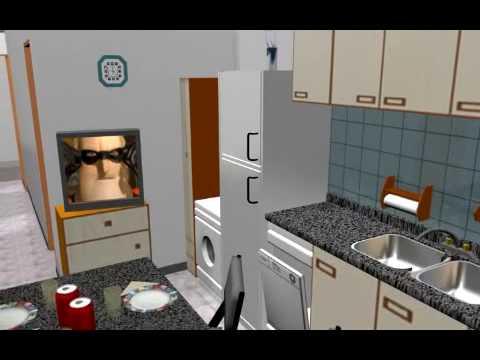 Animacion 3d departamento marwal n 11 youtube for Habitaciones 3d gratis