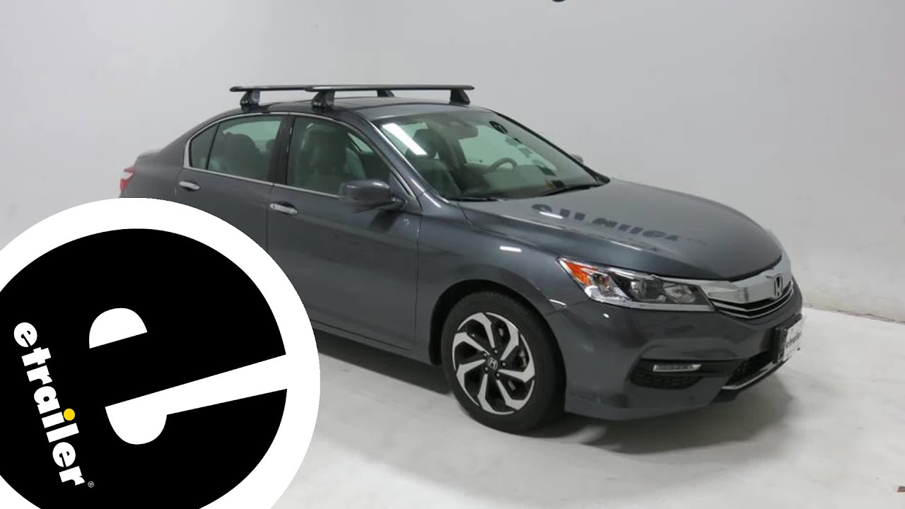 Honda Accord Sport >> etrailer | Rhino Rack Roof Rack Review - 2017 Honda Accord - YouTube