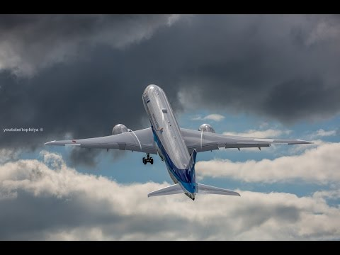 Incredible Takeoff Boeing 787-9 Dreamliner ANA airlines  Farnborough 2016