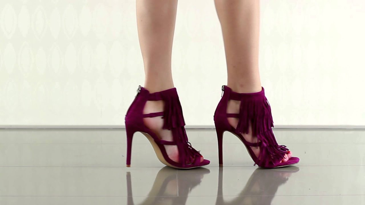 Fringly in Purple Suede Steve Madden