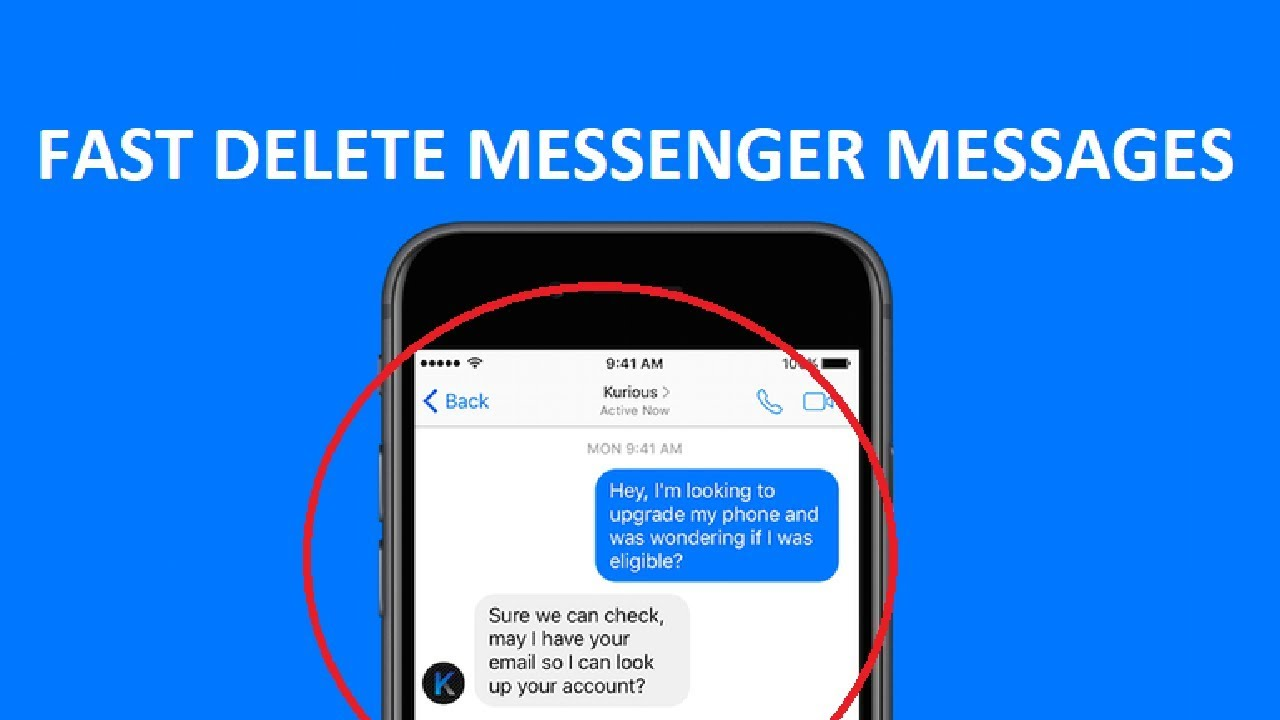 😀 Messenger Fast Delete Messages - How To Delete All Messages From Your  Messenger - 2018