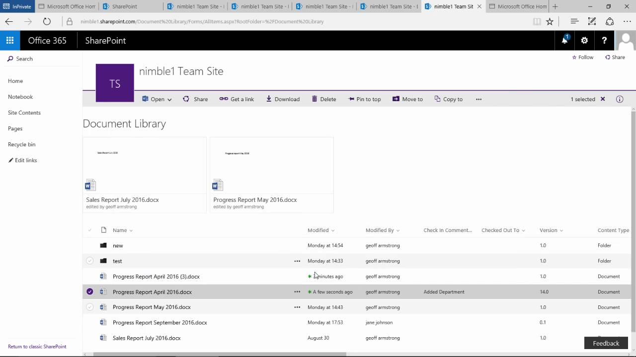 Check in check out documents in sharepoint 2016 and the new check in check out documents in sharepoint 2016 and the new document library youtube pronofoot35fo Images