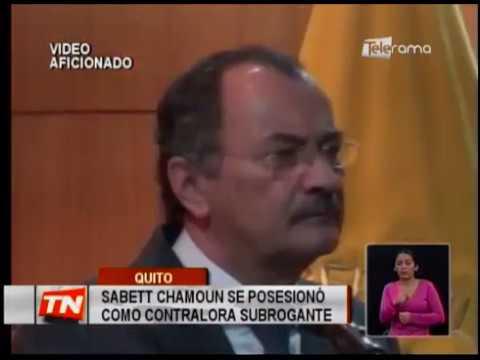 Sabett Chamoun se posesionó como contralora subrogante