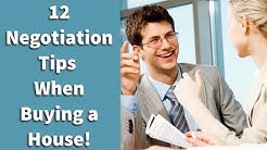 12 Negotiation Tips When Buying a House!
