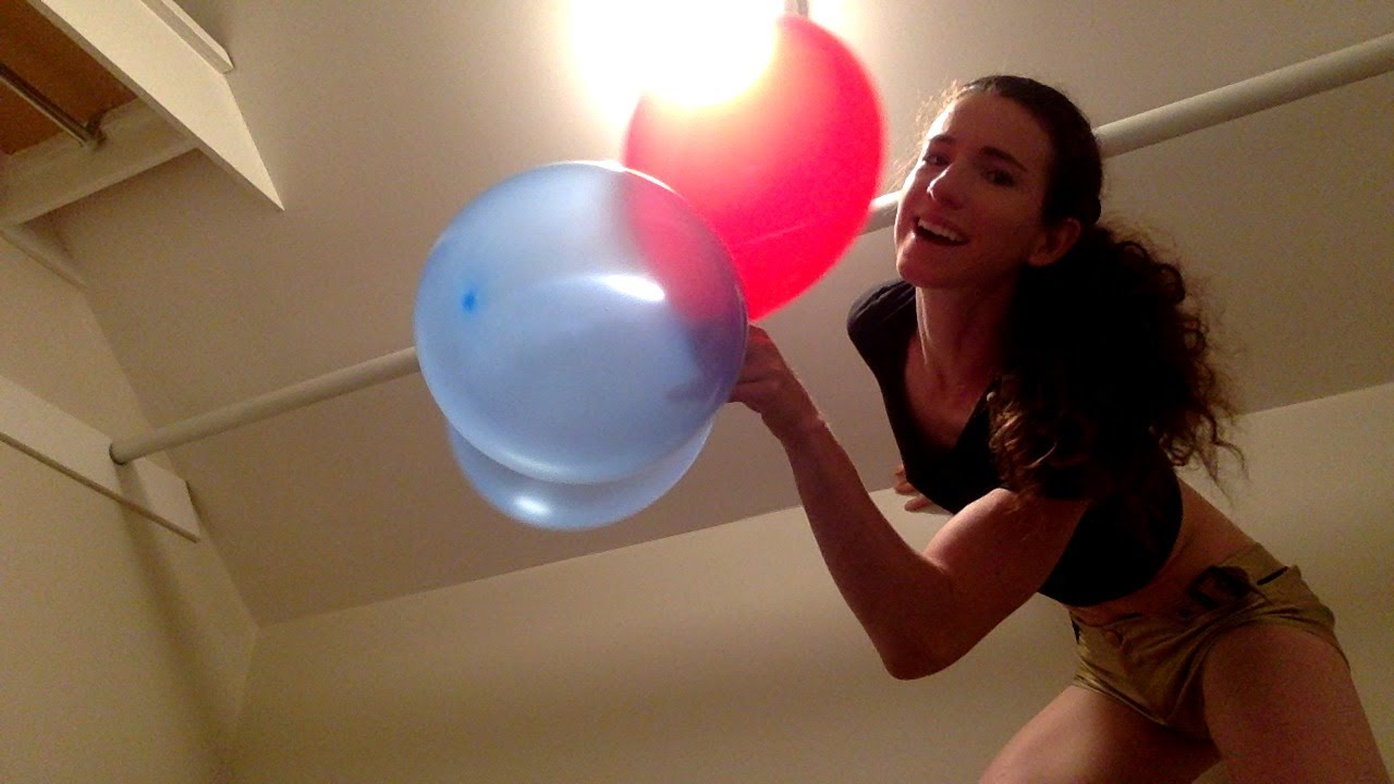 Making a Balloon Room! (Imagine bouncing off these walls of balloons!)