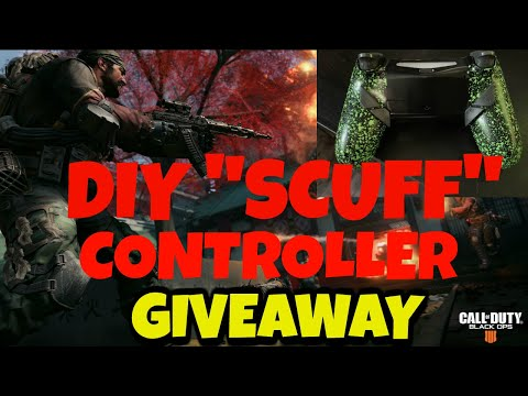 """DIY """"SCUFF"""" PS4 CONTROLLER REVIEW & GIVEAWAY  *** eXtremeRate Dawn Remap Kit***"""