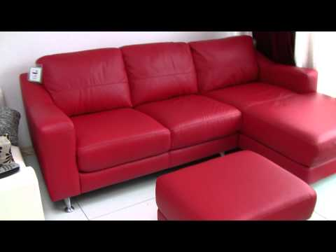DFS LEATHER CORNER SOFA for sale £500