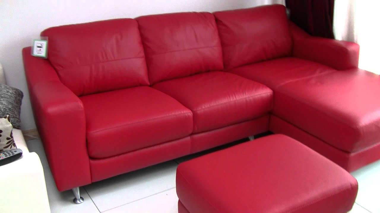 dfs leather corner sofa for sale £500 - youtube