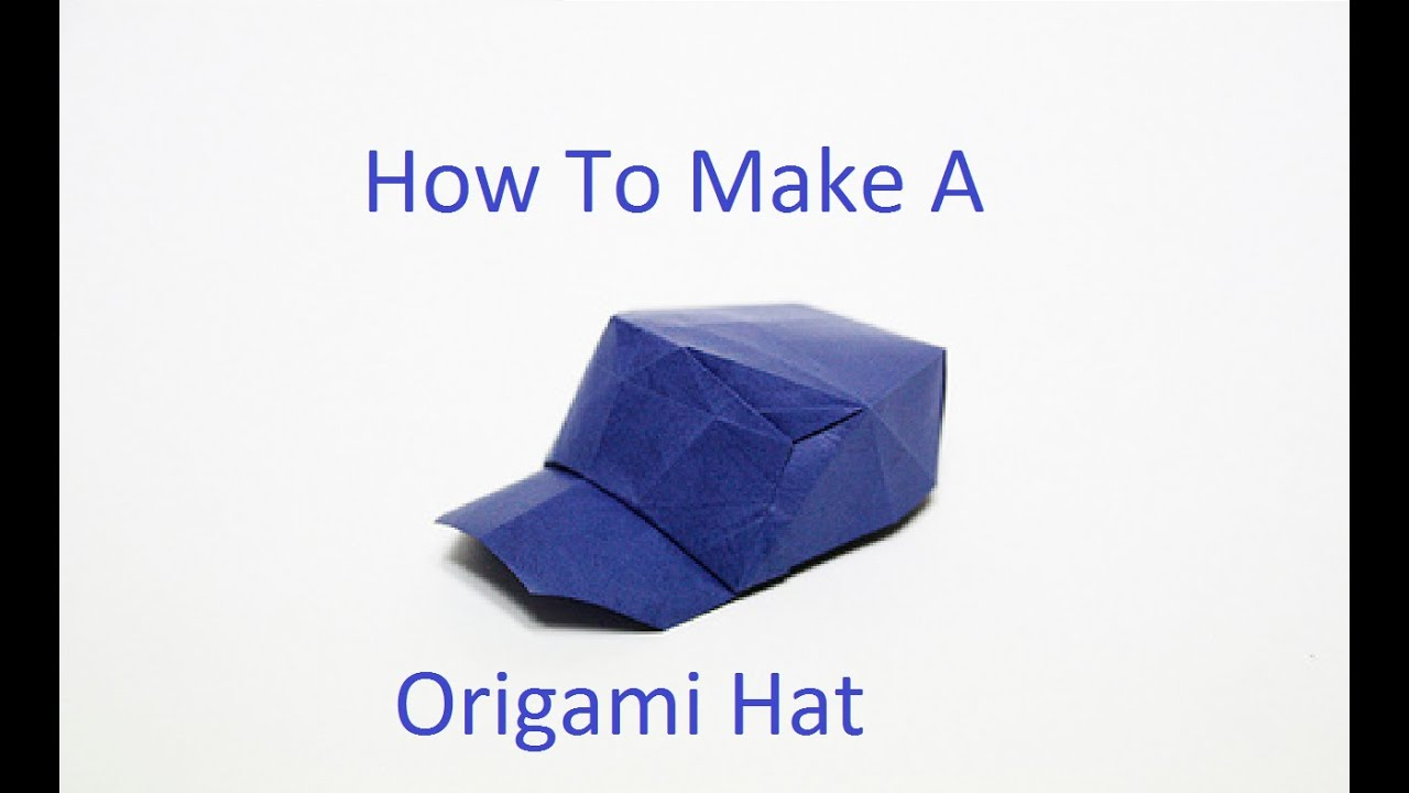 How To Make a Origami Cap (Hat) - YouTube - photo#27