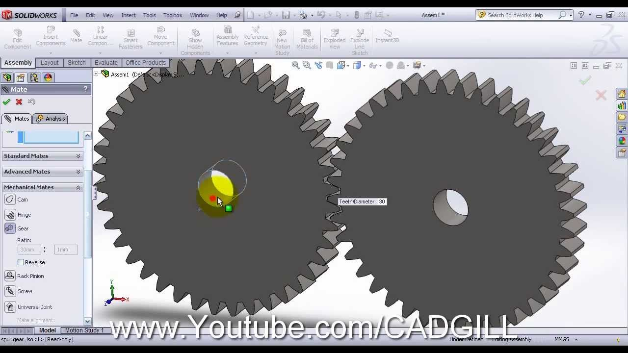 how to animate gears in solidworks | Astar Tutorial