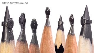 I carve micro Watch On the Tip Of the Pencil