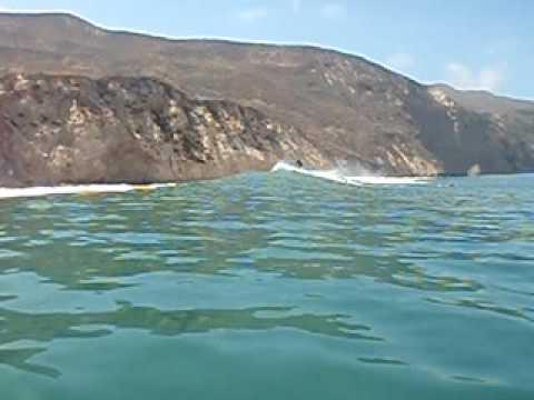 Otis catches massive standup wave at Chinese Harbor - Santa Cruz!