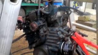 remise en route d'un moteur kubota 2 cylindres le 19/12/2017