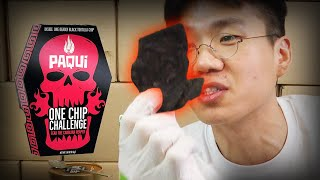 KOREAN ONE CHIP CHALLENGE HOTTEST PAQUI CHIP CHALLENGE MUKBANG