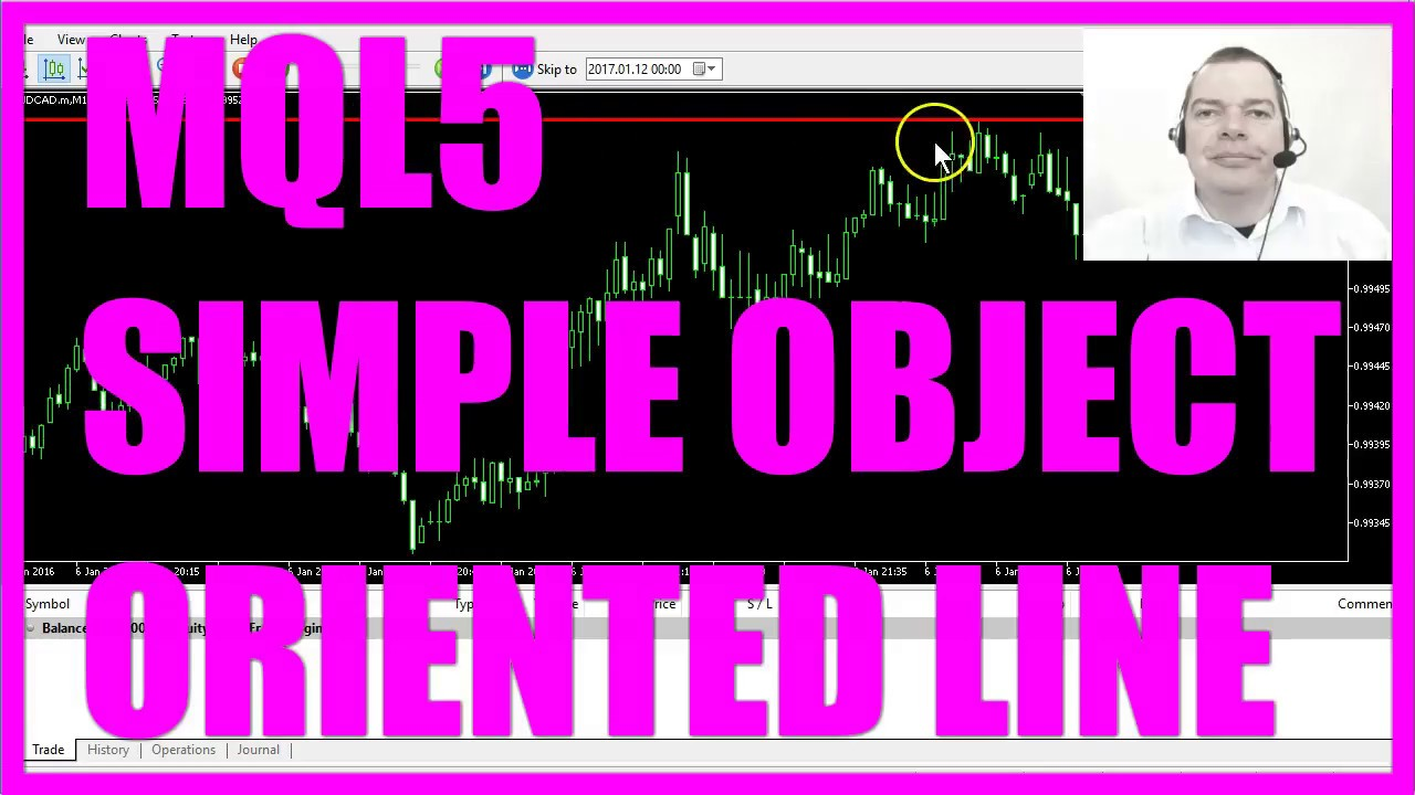 MQL5 Tutorial - Simple Object Oriented Line EA