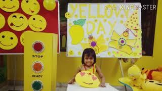 Yellow colour day in pre school