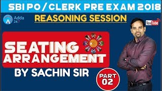 SBI PO/CLERK | Seating Arrangement Part-2 | Reasoning | Sachin sir thumbnail