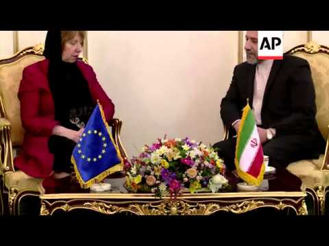 EU foreign affairs chief Ashton meets Iranian Deputy Foreign Minister, clean pictures