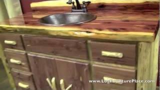 Aromatic Red Cedar Log Vanity From Logfurnitureplace.com