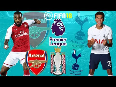 FIFA 18 |  Arsenal vs Tottenham | Premier League 2017/18 | Full Match