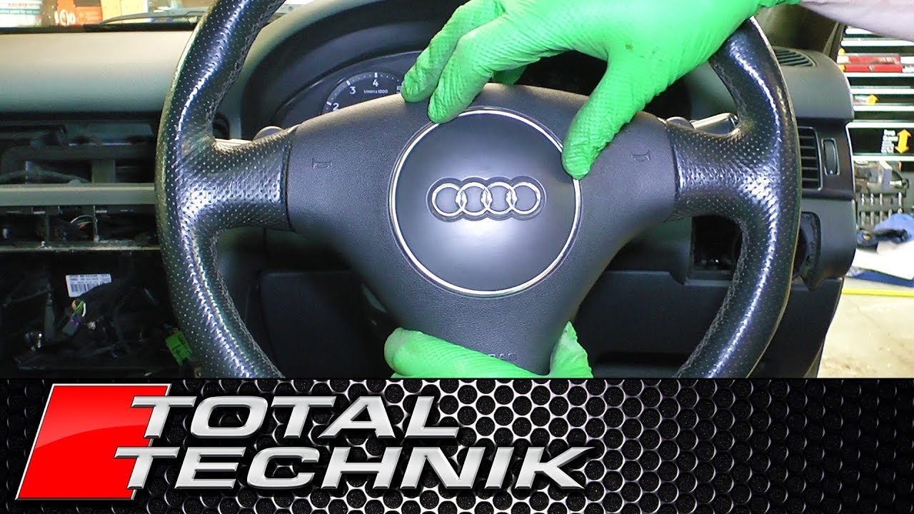 how to remove airbag audi a6 s6 rs6 c5 1997 2005 total rh youtube com