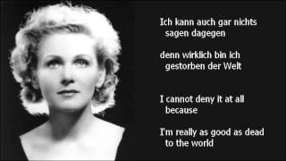 """Schwarzkopf - """"Ich bin der Welt abhanden gekommen"""" (Mahler - Rückert-Lieder)"""