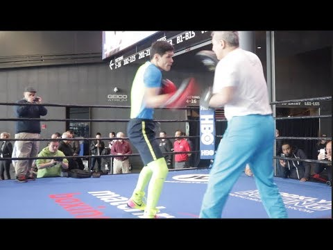 OLYMPIC GOLD MEDALIST & NEW MATCHROOM SIGNING DANNIYAR YELEUSSINOV **OFFICIAL NYC WORKOUT**