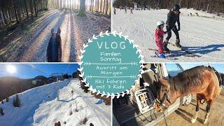 Familiensonntag |Ausritt durch den Wald |Ski fahren mit 3 Kids |VLOG |Kathis Daily Life