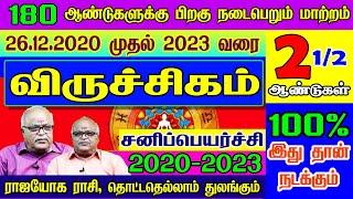 விருச்சிகம்  ராசி சனிப்பெயர்ச்சி பலன்கள்   Viruchigam rasi sani peyarchi 2020   2020 - 2023