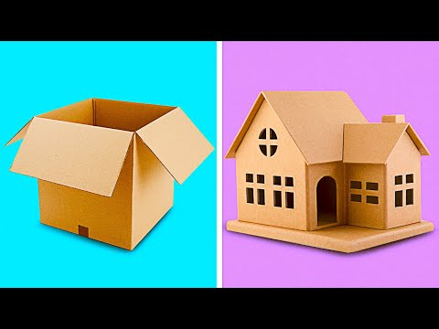 25-incredible-cardboard-crafts-to-make-at-home-||-recycling-projects-by-5-minute-decor!