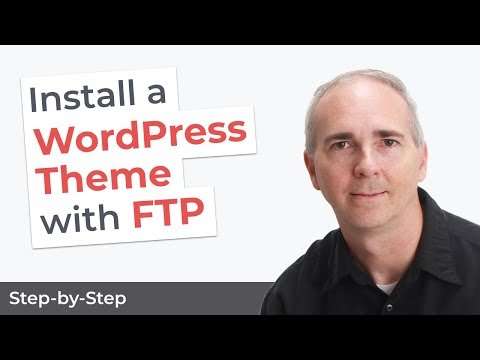 Install A WordPress Theme With FTP - YouTube
