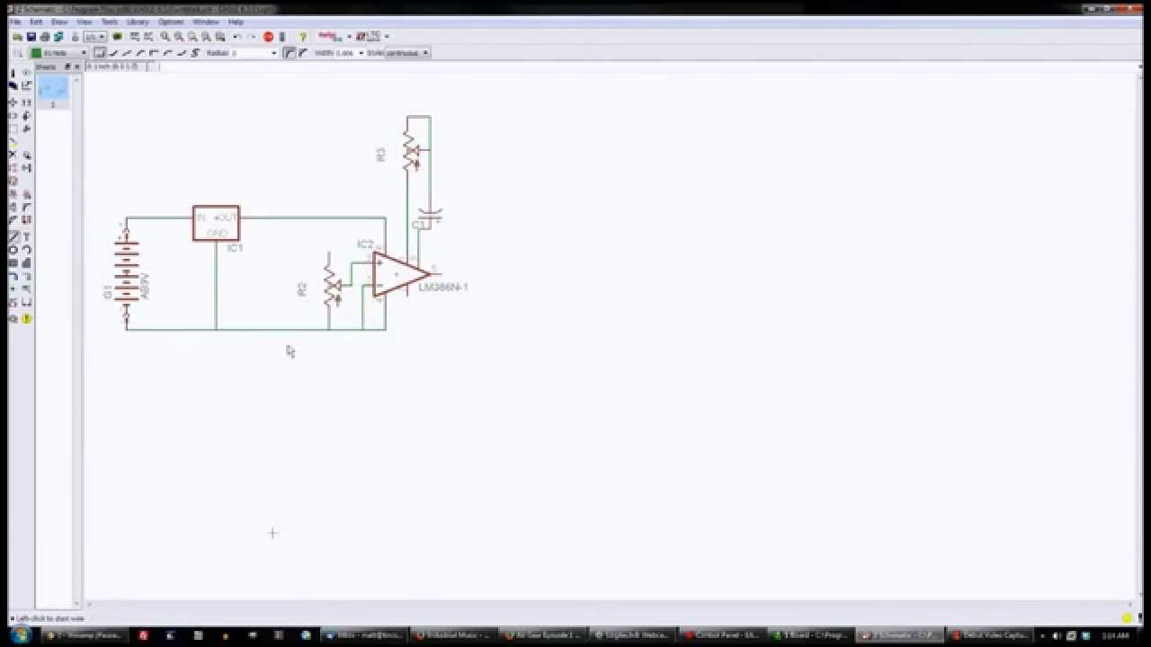 Eagle 6.5 Circuit and PCB Project:Audio Amp - YouTube
