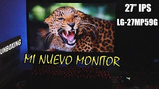 mONITOR GAMING IPS  Unboxing LG 27MP59G-P