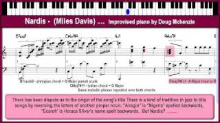 Nardis - jazz piano lesson