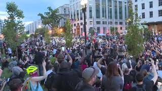 "POWERFUL: A crowd of protesters for George Floyd in D.C. sings ""Lean on Me"""