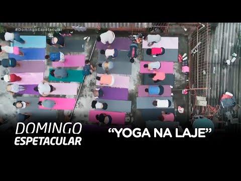 """Brasileiros inovam na hora de relaxar com o """"yoga na laje"""""""