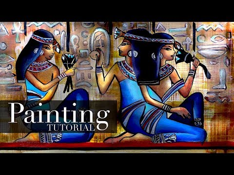 Ancient Egyptian Women Painting | Acrylic Painting Tutorial