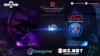 Secret vs LGD  | Best of 2 | Group Stage | The International 9