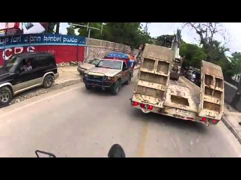 Daily motorcycle commute in Port-au-Prince, Haiti. GoPro Hero 2.