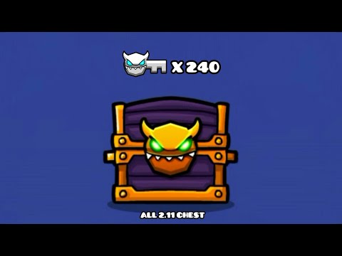 OPEN ALL 2.11 DEMON CHEST (Total 48) | Geometry Dash 2.11