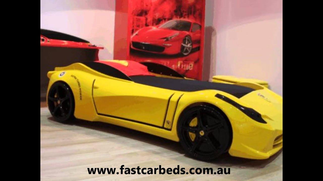 Yellow F1 Aero Ferrari Look Car Bed