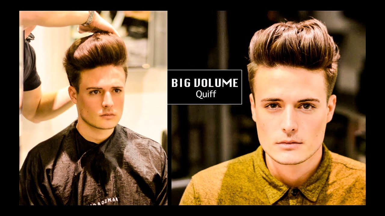 Tight Faded Undercut Big Volume Quiff Mens Haircut And Hairstyle
