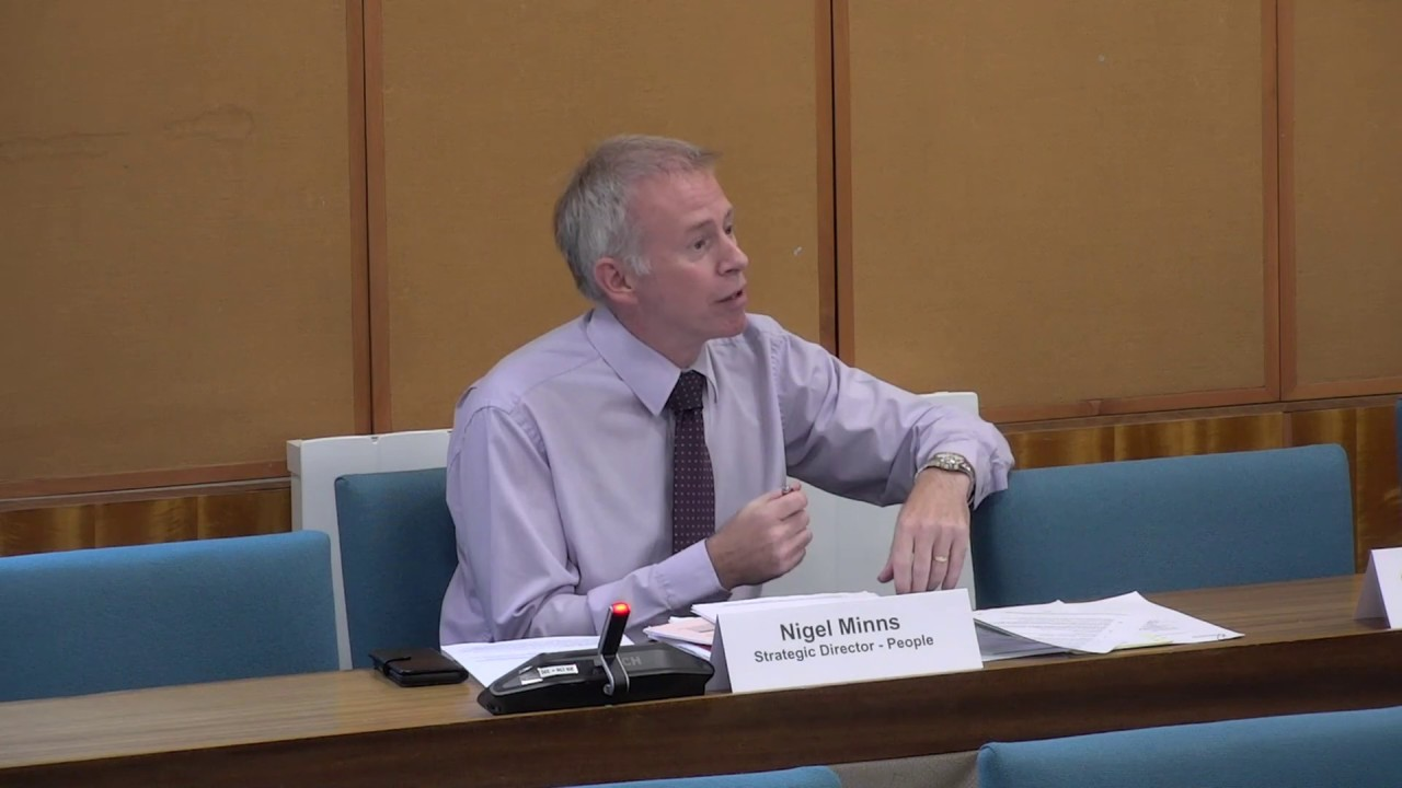 Nigel Minns, Strategic Director – People, Warwickshire County Council: Statement to Children & Young People Overview & Scrutiny Committee