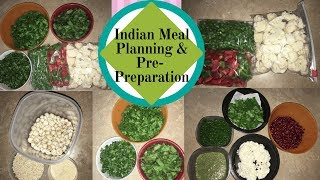 Indian Weekly Meal Planning, Grocery shopping and pre meal preparation|| Real Homemaking