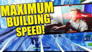 TFUE SHOWS STREAM HIS MAX BUILDING SPEED!*GOES SUPER SAIYAN*