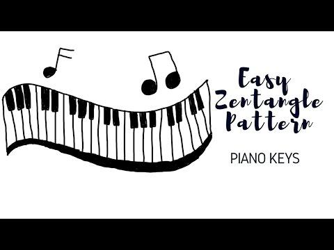 How To Draw Easy Zentangle Patterns Piano Keys Youtube